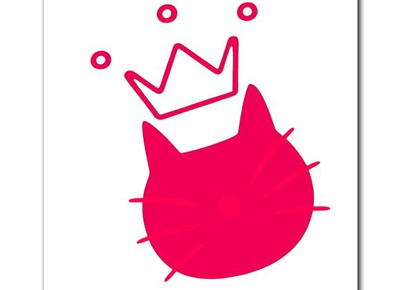 logo queen eleanor (pink) | Magnet