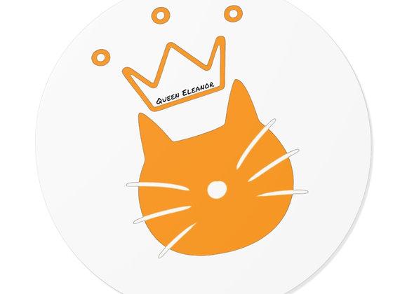 queen eleanor   Logo Round Vinyl Sticker