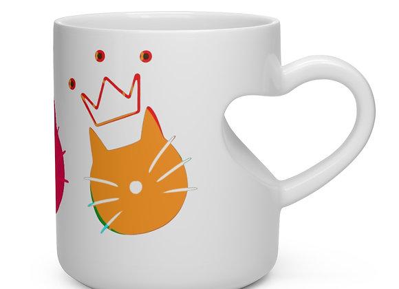 queen eleanor   Heart Shape Mug