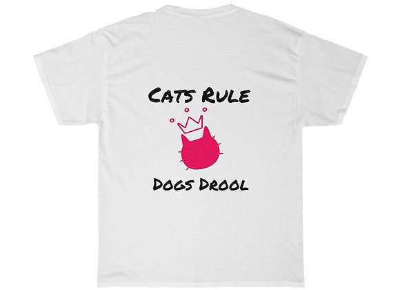 cats rule, dogs drool | Unisex Heavy Cotton Tee