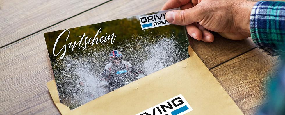 Geschenkgutschein Driving Area Motorradtraining Motorradreise