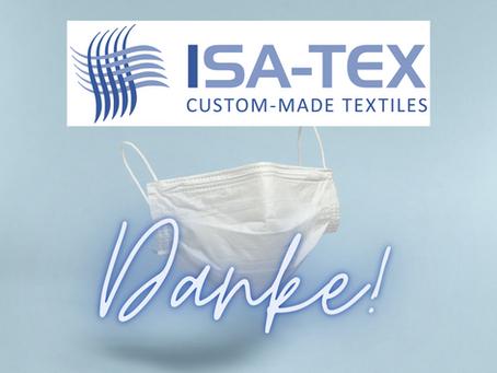 Vielen Dank der Firma Isa-Tex