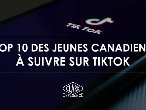 Top 10 des jeunes canadiens à suivre sur TikTok