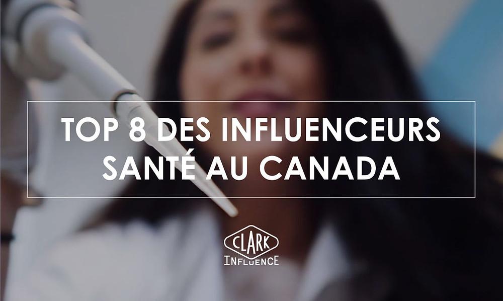 influenceurs santé au Canada / Québec
