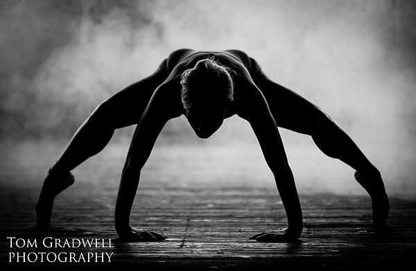 Image by Tom Gradwell of Ballet dancer in the main room in Atlas Studios