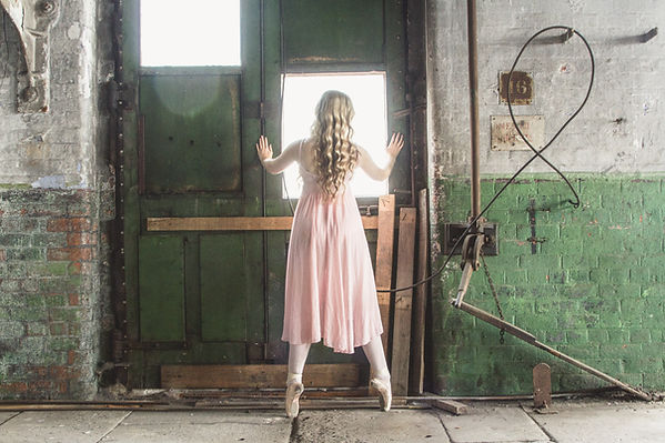 Image of a Ballet Dancer in the stone room. Taken by RBF Photography