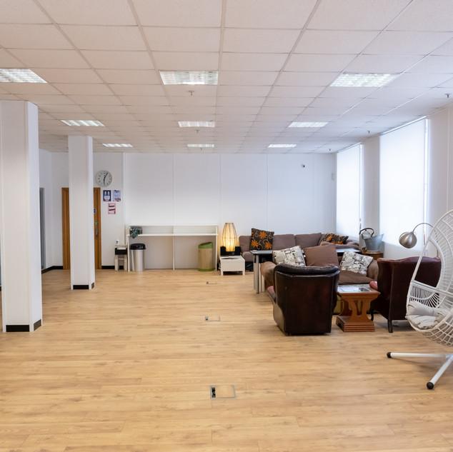 Atlas Studios White room - seating area.