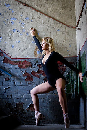 Image of a Dancer in Atlas Studios. Taken by RBF Photography