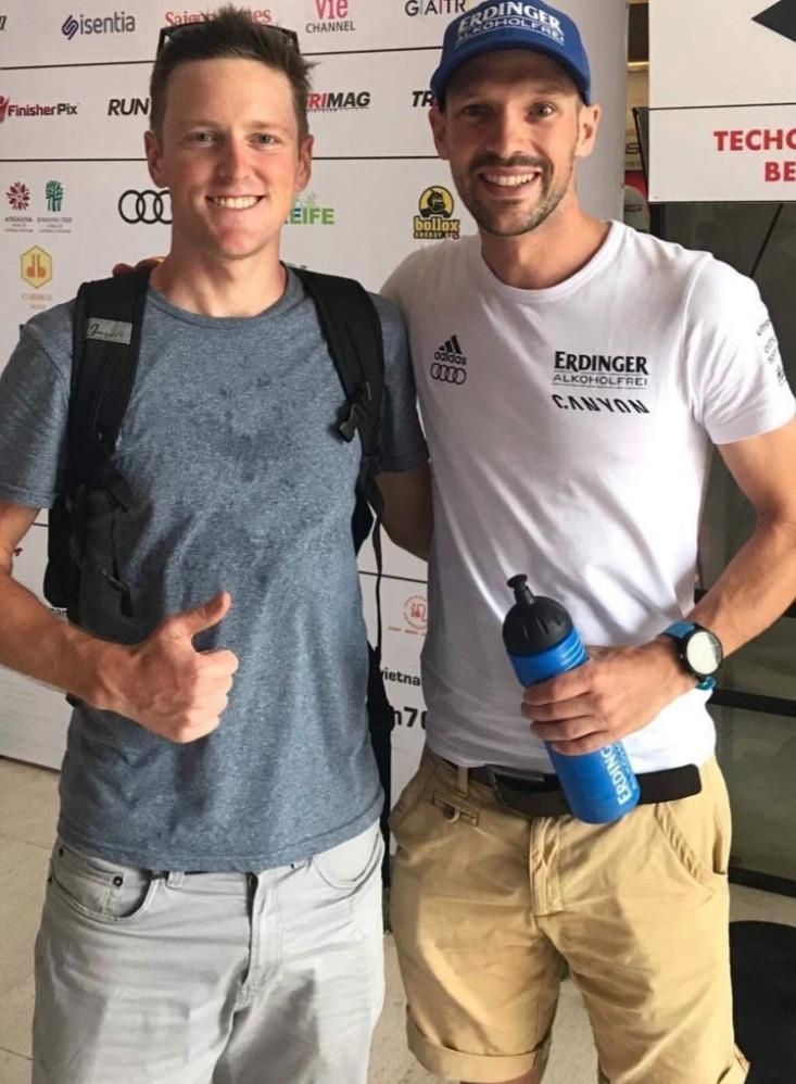 Vegetarian triathlete Patrick Lange and vegan triathlete Jason Fonger
