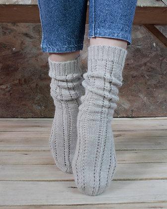 knitted Alpaca Socks Code: