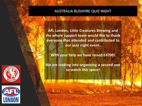 Great Success at the Bushfire fundraiser