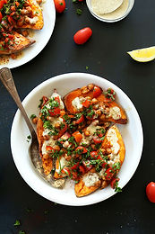 Mediterranean-Baked-Sweet-Potatoes-vegan