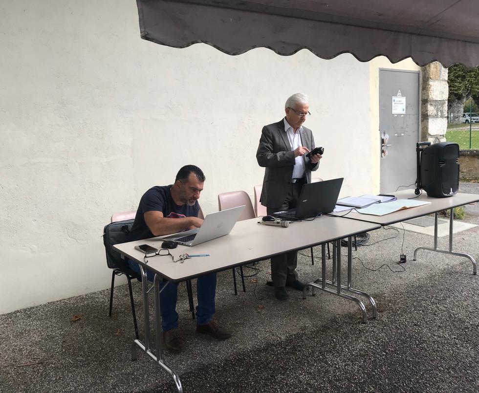 Président et vice président aux préparatifs