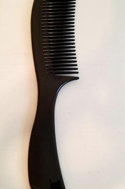 Comb Narrow to Wide Teeth Black