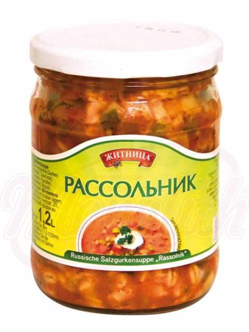"""Русский суп с соленными огурцами """"Рассольник""""480g"""