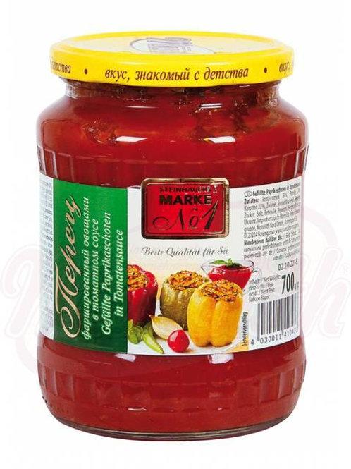 ***Перец фаршированный овощами в томатном соусе 700g box-12stuk