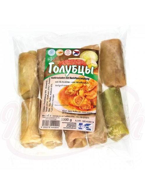 **Голубцы с начинкой из свиного и говяжьего мяса с рисом, мороженные 1kg box-12p