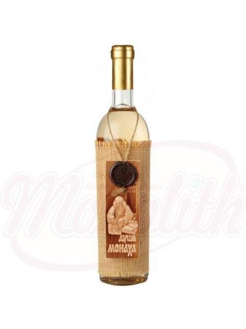 """Белое вино """"Душа монаха"""" полусладкое 12% 0.75l"""