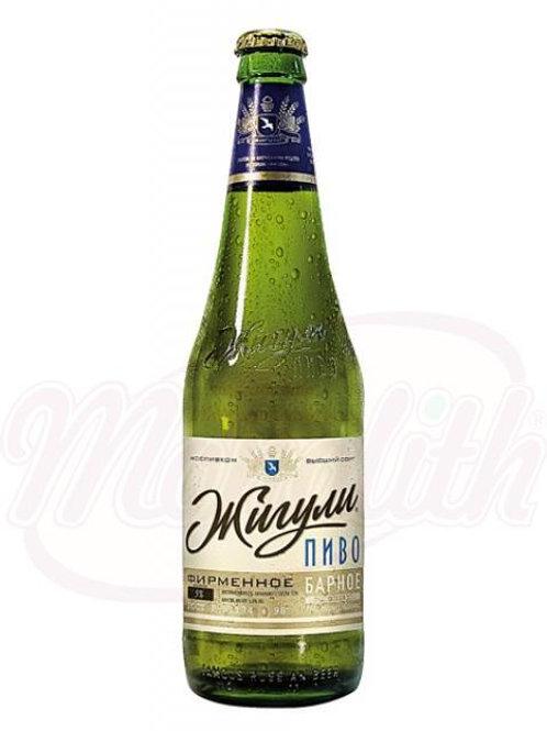 """Пиво светлое """"Жигули барное"""" пастеризованное, 4,9% алк. 0.5l"""