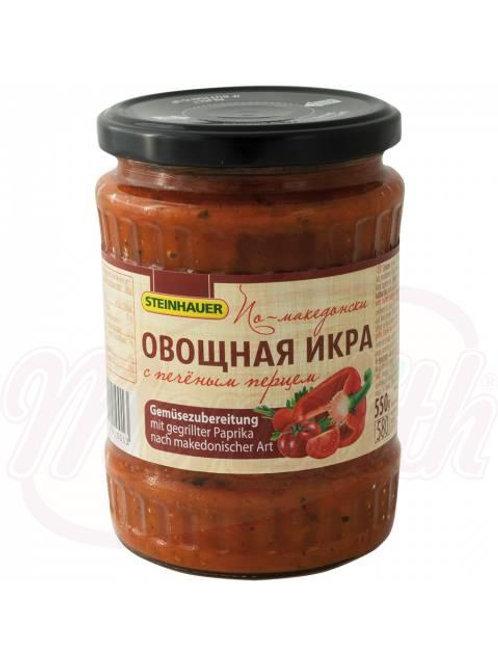 Овощная икра с печёным перцем по-македонски550g
