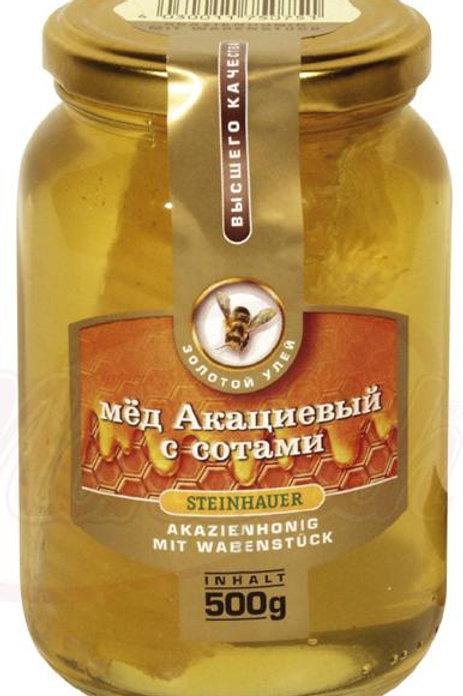 Мёд акациевый с сотами  500 g