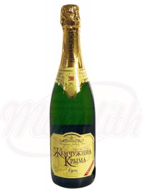 """Коллекционное игристое вино """"Жемчужина Крыма"""" сухое 12,5% алк."""