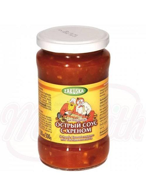 """**Острый томатный соус с хреном """"Na Pososchok""""280g box-12stuk"""