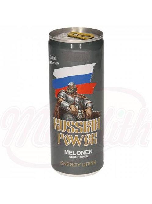 "Кофеиносодержащий напиток со вкусом дыни ""Russian Power"" 250ml"