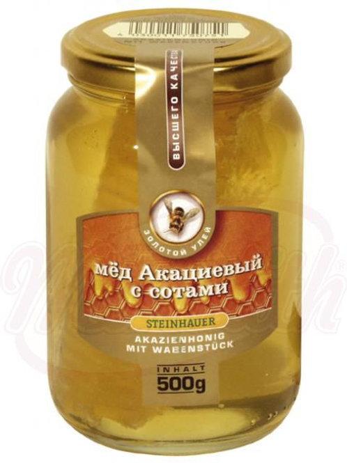 Мёд акациевый с сотами 500g