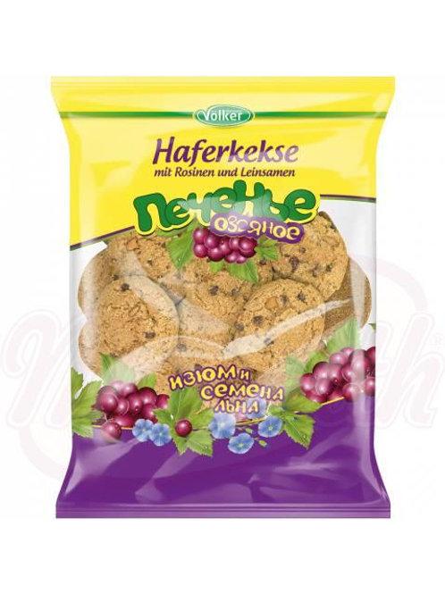 ***Овсяное печенье с изюмом и семенами льна 500g