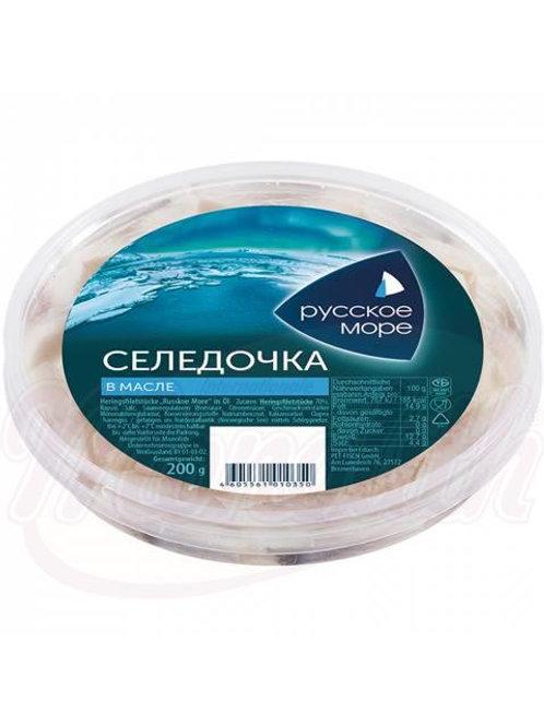 """Сельдь филе-кусочки """"Русское море"""" в масле"""