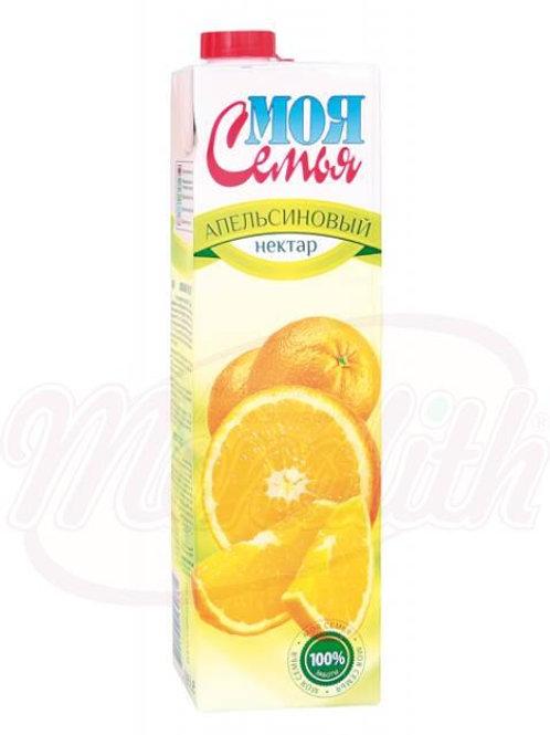 """Нектар апельсиновый """"Моя семья"""" 0,95l"""