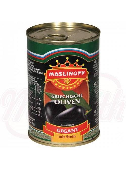 """Маслины греческие с косточкой """"Гигант"""" 420g"""