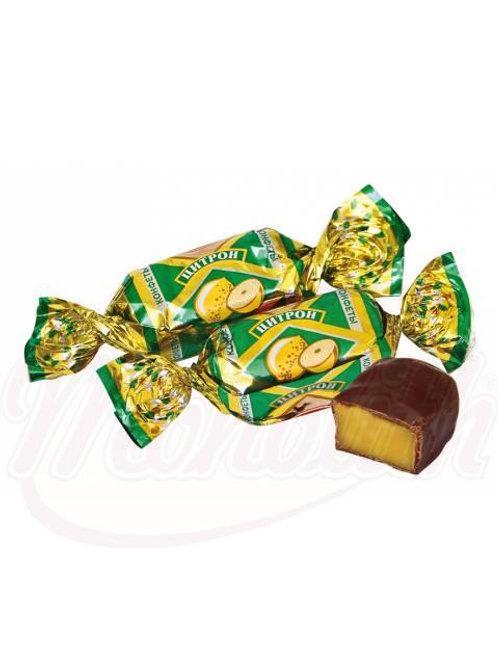 """Помадные конфеты """"Цитрон"""" со вкусом лимонна 100g"""
