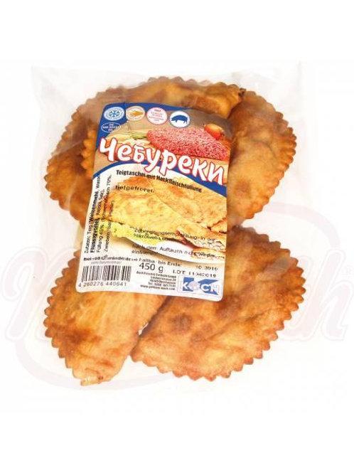 Жареные чебуреки со свининой, замороженные 450g