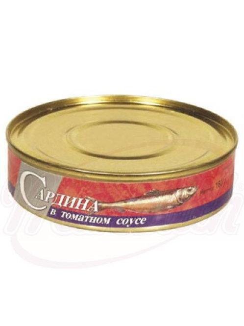 Сардина в томатном соусе 160g
