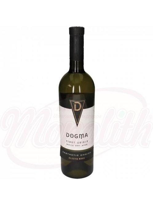"Белое сухое вино из Молдавии, ""Догма"" Pinot Grigio, 13% алк.0.75l"
