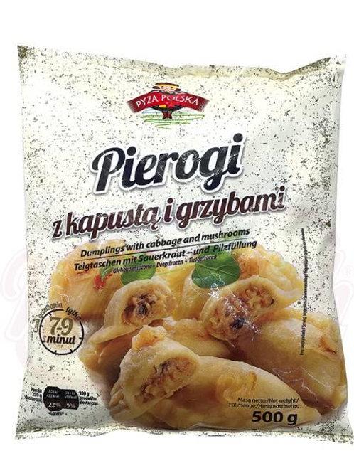 Польские вареники с кислой капустой и грибами замороженные 500g