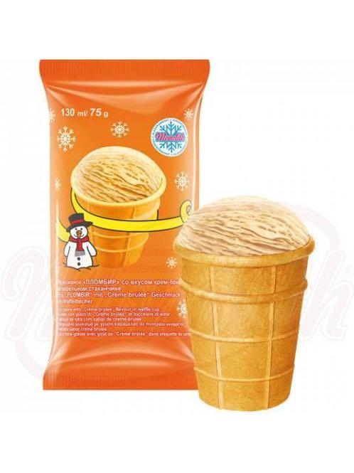 Сливочное мороженое вкуса крем –брюле 130ml