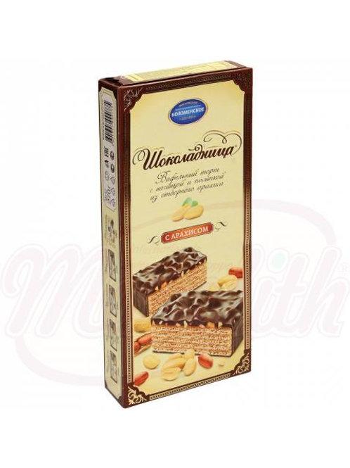 """Вафельный торт """"Шоколадница"""" со вкусом арахиса 270g"""