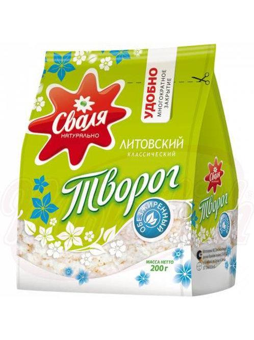 "Творог ""СВАЛЯ"" обезжиренный 1,8% жира200g"