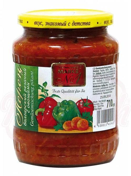 Болгарский перец резанный с овощами710g