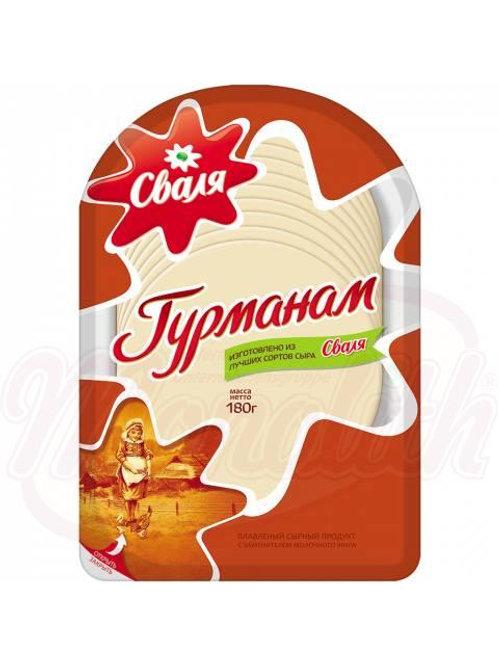 """Сыр плавленый литовский """"Гурманам"""" 45% жирности 180g"""