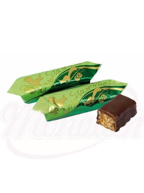 """Конфеты глазированные шоколадной глазурью """"Грильяжные"""","""