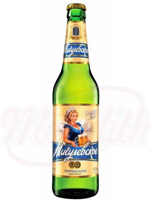 """Пиво """"Жигулёвское фирменное"""", светлое 4,5% алк. 0.47l"""