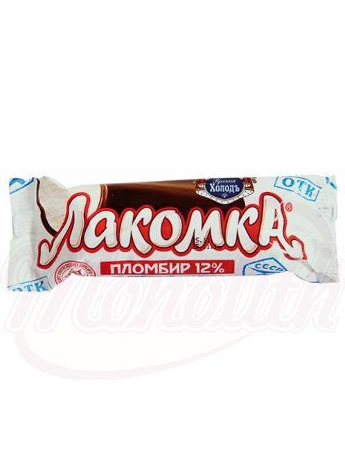 Мороженое пломбир ванильный во взбитой шоколадной глазури. 80g