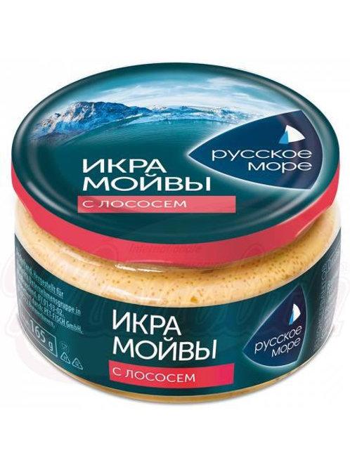 """Икра мойвы """"Русское Море"""" с кусочками лосося"""
