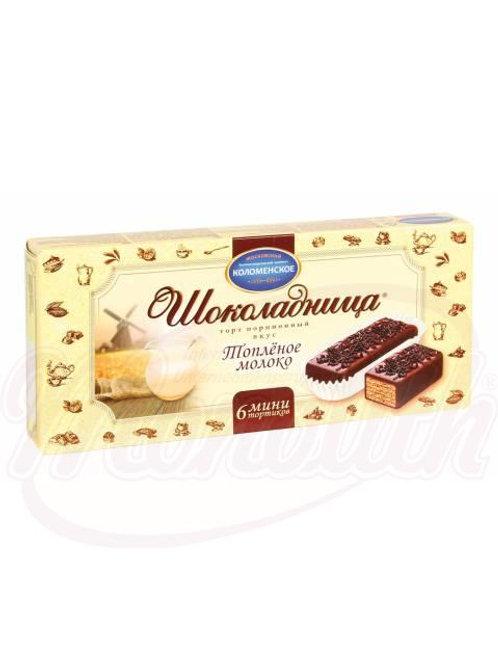 """Вафельный торт """"Шоколадница"""" вкус топленое молоко 180g"""