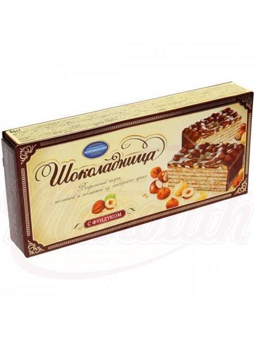 """Вафельный торт """"Шоколадница"""" со вкусом фундука 270g"""