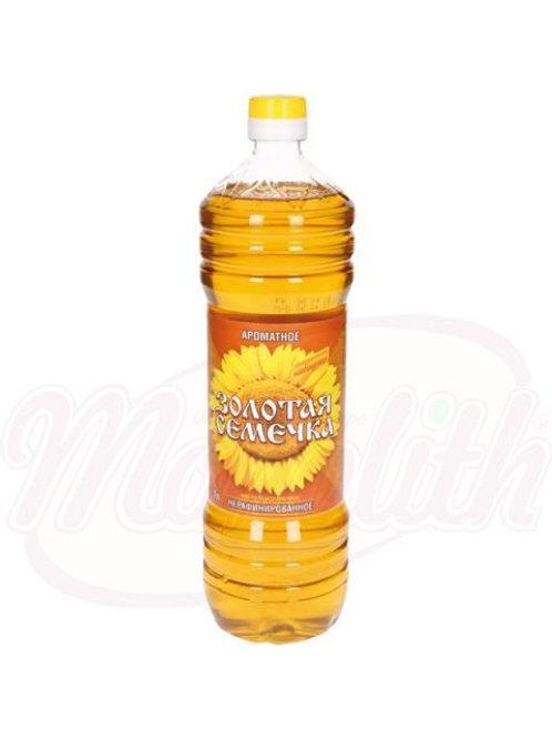"""Ароматное подсолнечное масло для салатов """"Золотая семечка"""" 1l"""